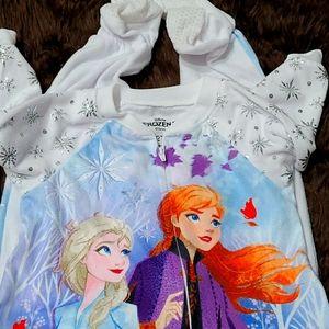 Disney Frozen girls footed pajamas- 2T
